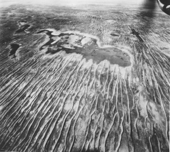 Image: aerial view of desert landscape