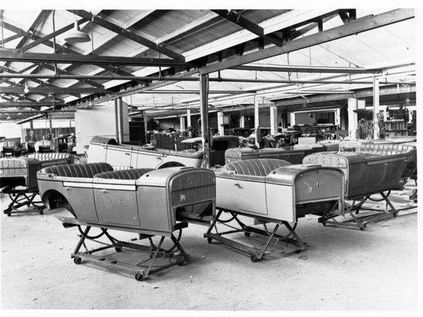 Image: Car bodies at Holden Motor Body Works
