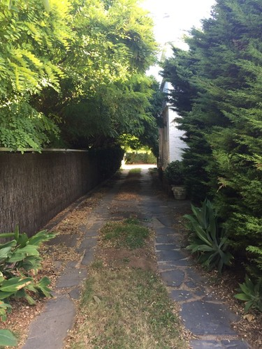 Image: A driveway leading to a rear garden