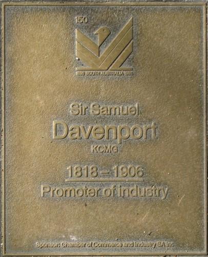 Jubilee 150 walkway plaque of Sir Samuel Davenport
