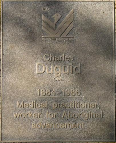 Jubilee 150 walkway plaque of Charles Duguid