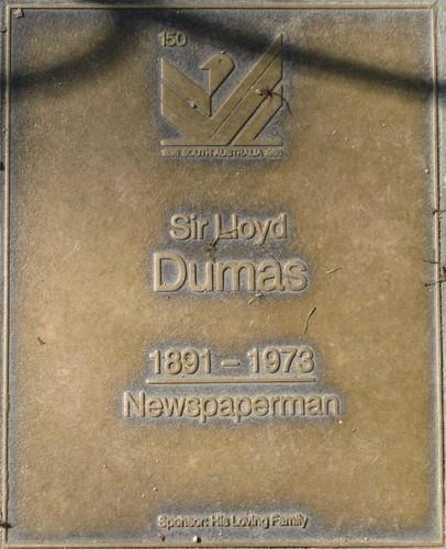 Jubilee 150 walkway plaque of Sir Lloyd Dumas