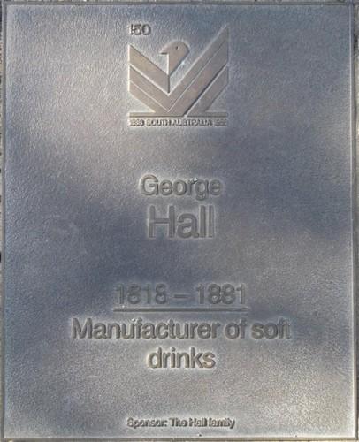 Jubilee 150 walkway plaque of George Hall