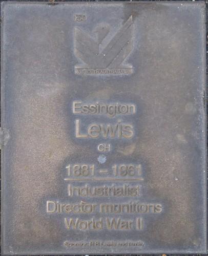 Jubilee 150 walkway plaque of Essington Lewis