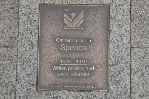Image: Catherine Helen Spence Plaque