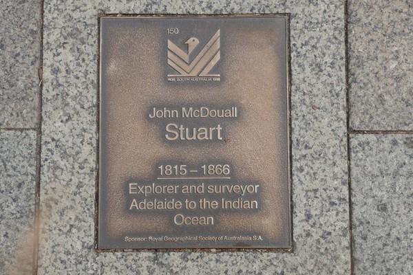 Image: John McDouall Stuart Plaque