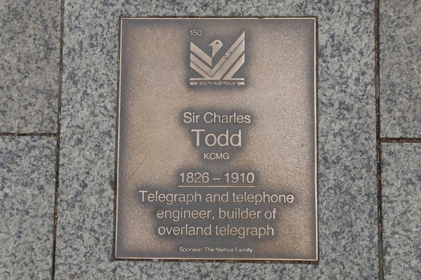 Image: Sir Charles Todd Plaque