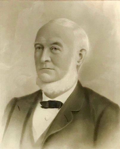 Image: portrait of a man in black and white