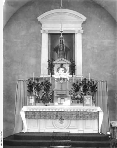 Image: a church altar