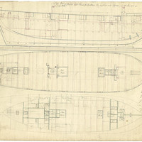 Image: Lines drawing of Royal Navy vessel