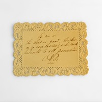 Image: handwritten card