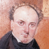Image: painting of man in suit, seated