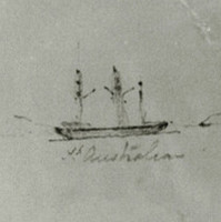 Image: Pencil sketch of ship