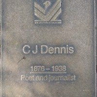 Jubilee 150 walkway plaque of C.J. Dennis