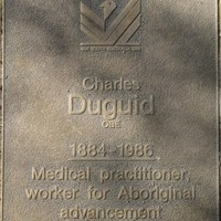 Jubilee 150 walkway plaque of Charles Duguid
