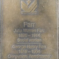 Jubilee 150 walkway plaque of George and Julia Farr