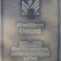 Jubilee 150 walkway plaque of Alfred Edward Gerard
