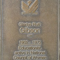 Jubilee 150 walkway plaque of Gladys Ruth Gibson