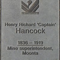 Jubilee 150 walkway plaque of 'Captain' Henry Richard Hancock