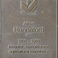 Jubilee 150 walkway plaque of Alfred Hannaford