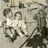 Image: children on swing