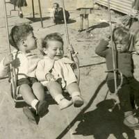 Image: children on swing