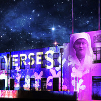 Image: Images projected on a large building front