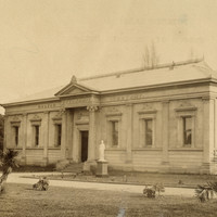 Image: Sepia photograph of Greek Revival style building