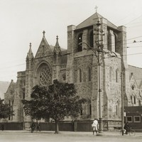 Image: Gothic Revival cathedral with squat tower