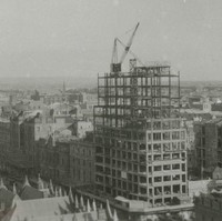 Image: High-rise building under construction from aerial viewpoint