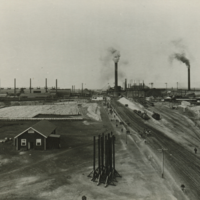 Image: Landscape view of smelters at Port Pirie