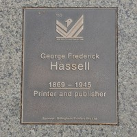 Image: George Frederick Hassell Plaque