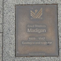 Image: Cecil Thomas Madigan Plaque