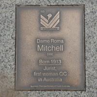 Image: Dame Roma Mitchell Plaque