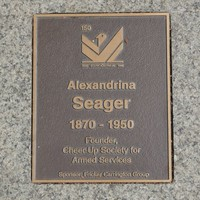 Image: Alexandrina Seager Plaque