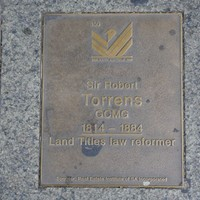 Image: Sir Robert Torrens Plaque