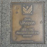 Image: David Unaipon Plaque