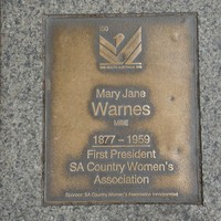 Image: Mary Jane Warnes Plaque