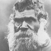 Image: Black and white photograph of an Aboriginal man