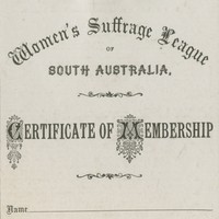 Image: Women's Suffrage League Membership Form