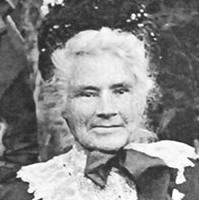 Image: elderly woman in nineteenth century costume