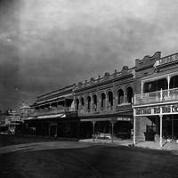 Image: sepia shot of building facades