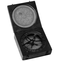 Image: compass in wooden case