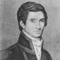 Image: Black and white portrait of Captain Matthew Flinders, 1808