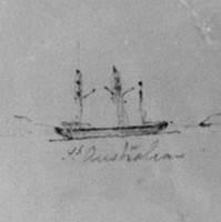 Image: Pencil sketch of ship