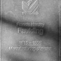 Jubilee 150 walkway plaque of Francis Hardy Faulding