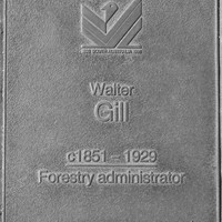 Jubilee 150 walkway plaque of Walter Gill