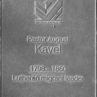 Jubilee 150 walkway plaque of August Kavel
