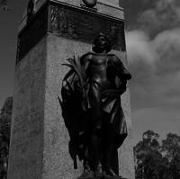 Image: Bronze statue of angelic man