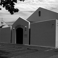 Image: White museum building with Mary MacKillop Centre written above the door